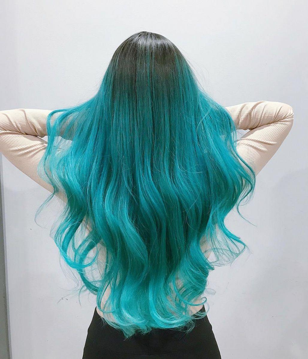 Tóc màu xanh đẹp nhất
