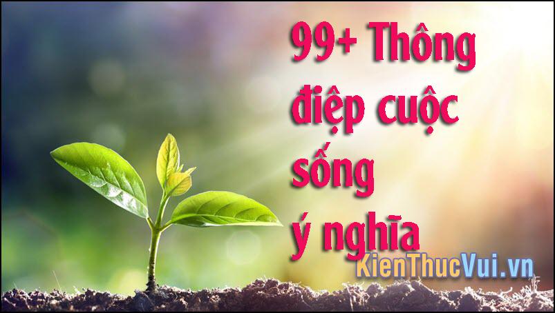 99+ Thông điệp cuộc sống ý nghĩa