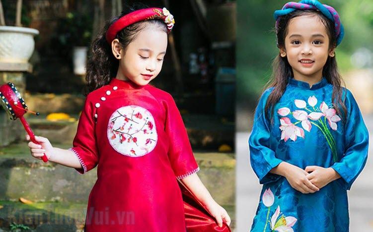 Những mẫu áo dài cách tân cho bé gái đẹp