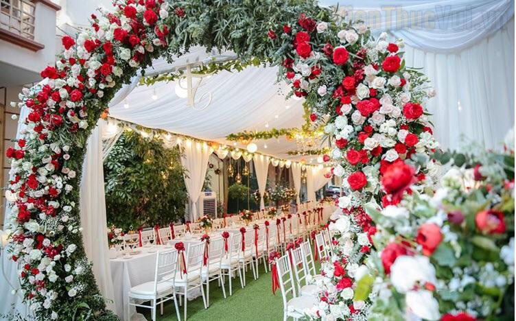 Những mẫu cổng cưới đẹp nhất