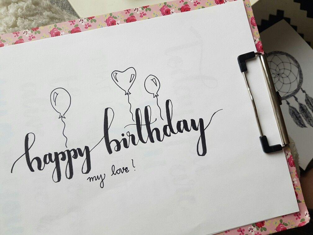 Ảnh chữ Happy Birthday tặng người yêu