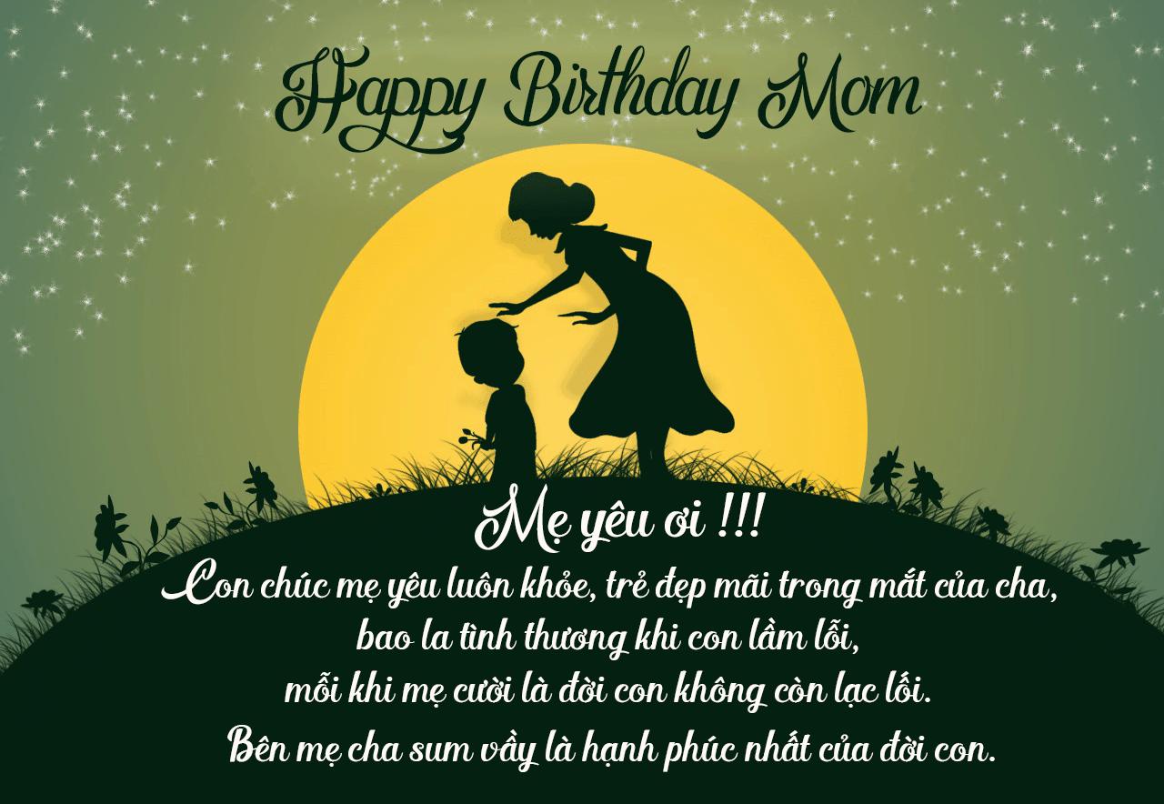 Ảnh lời chúc sinh nhật mẹ ngọt ngào nhất