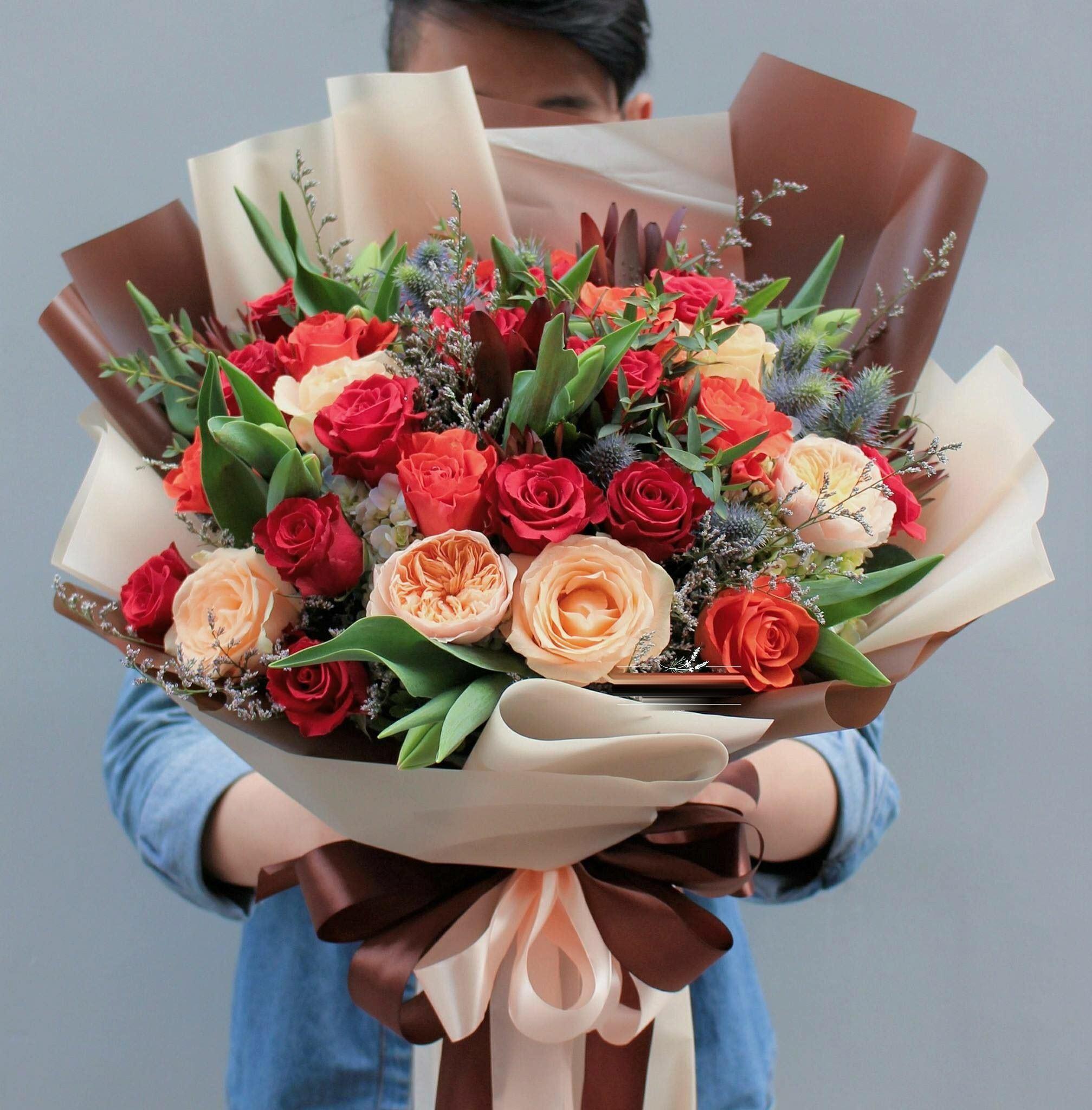 Ảnh tặng hoa sinh nhật đẹp nhất