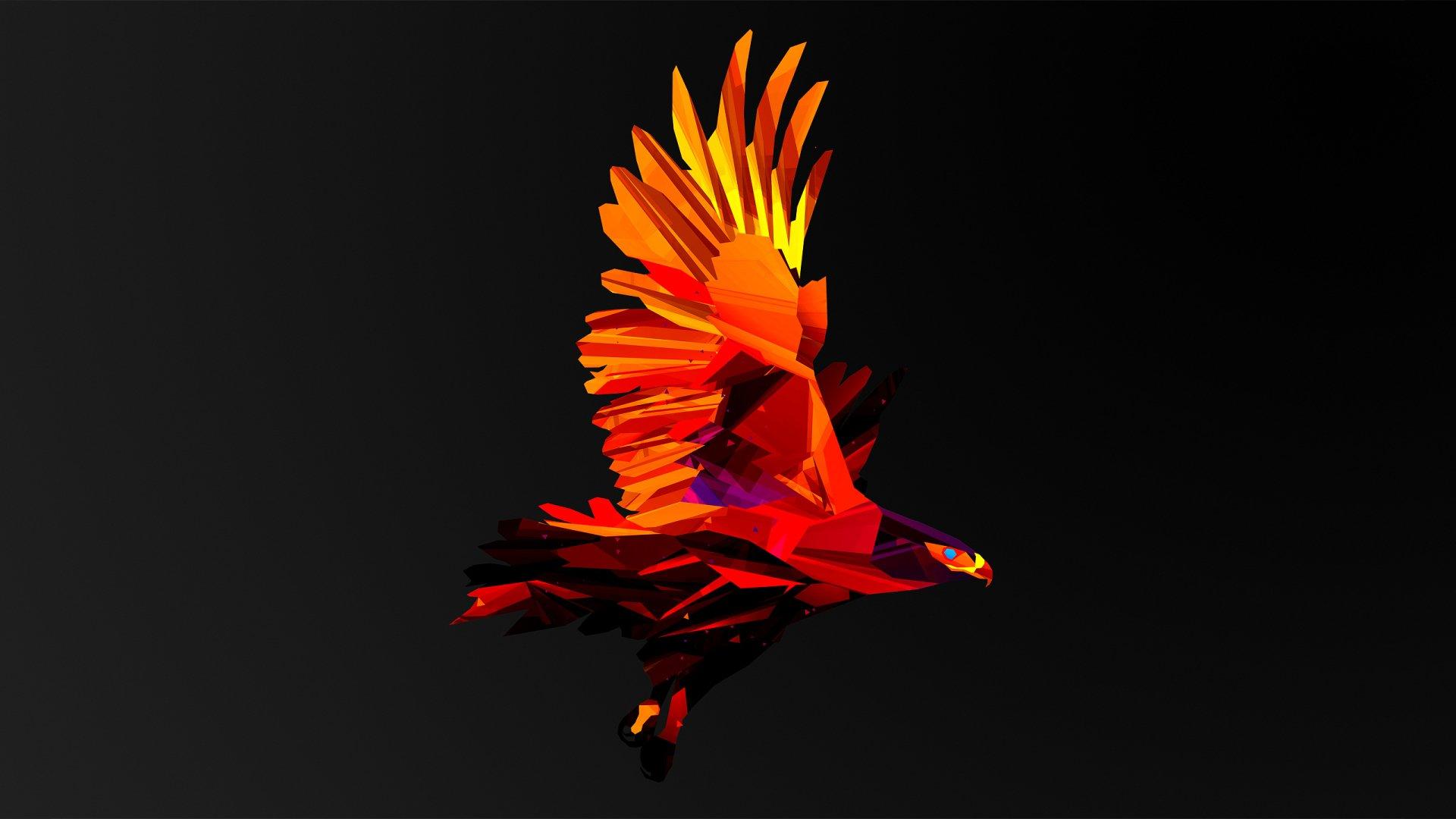 Hình nền đại bàng phong cách trừu tượng