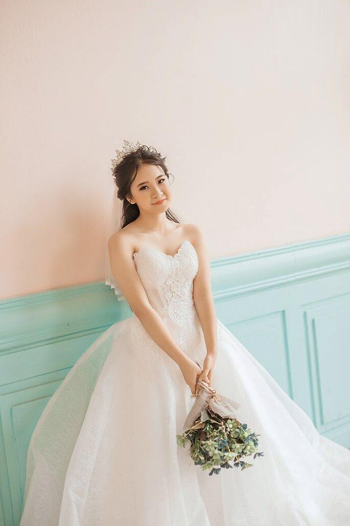 Ảnh chụp cô dâu phong cách Hàn Quốc