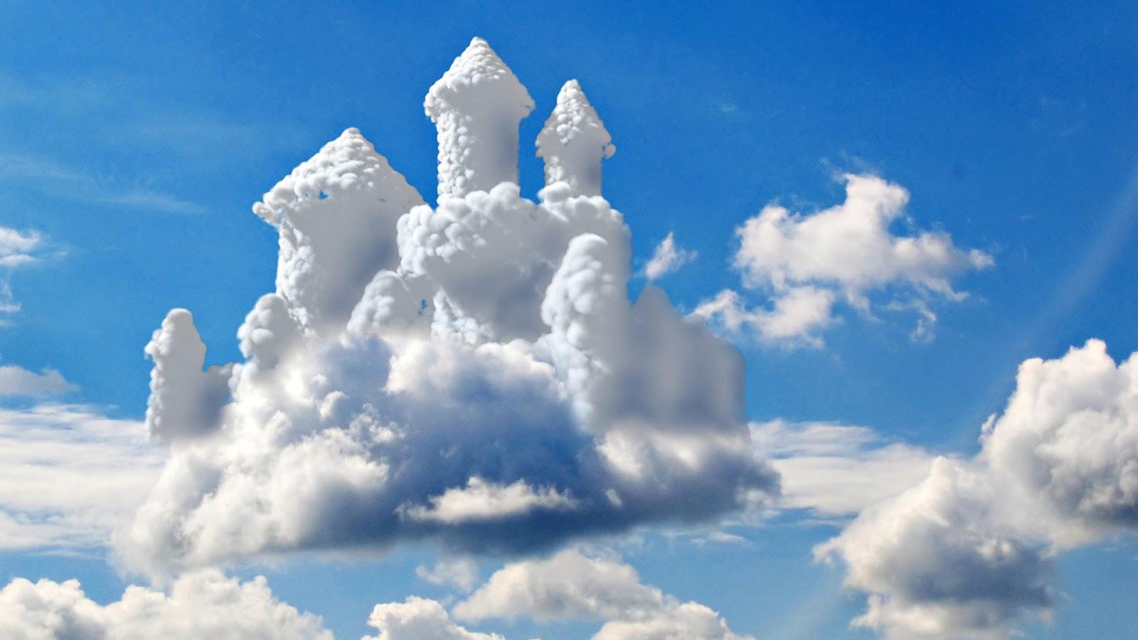 Ảnh mây hình lâu đài
