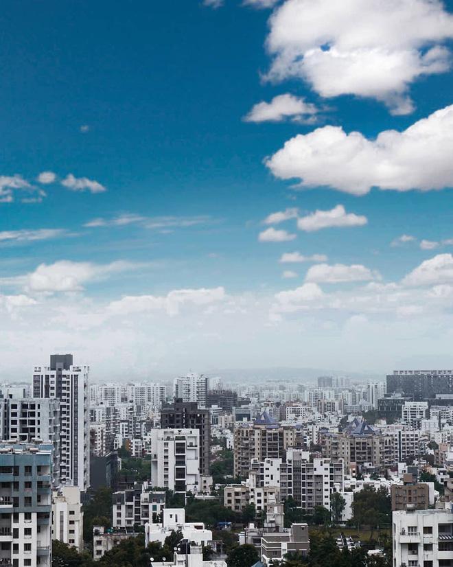 Ảnh mây trong thành phố