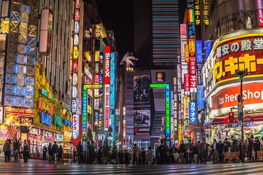 Ảnh đường phố Tokyo đẹp ngỡ ngàng về đêm