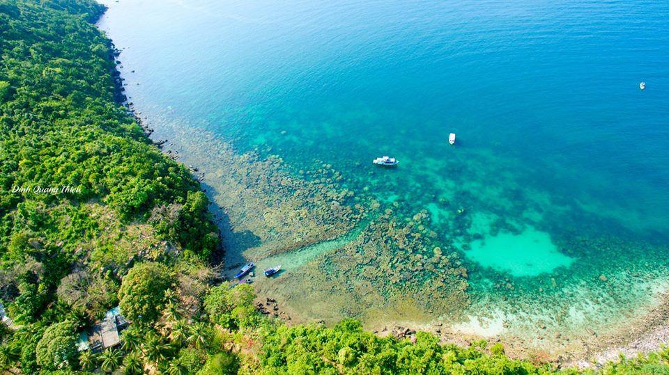 Ảnh hòn đảo tuyệt đẹp quanh Phú Quốc nhìn từ trên cao