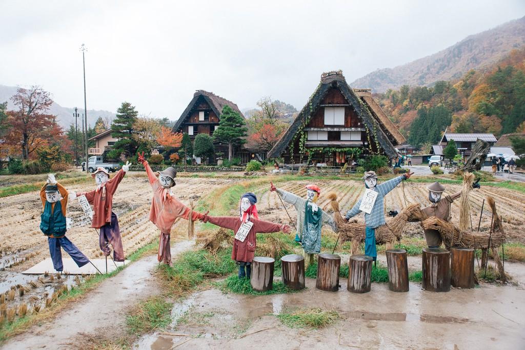 Ảnh làng  Shirakawago Gokayama Nhật Bản
