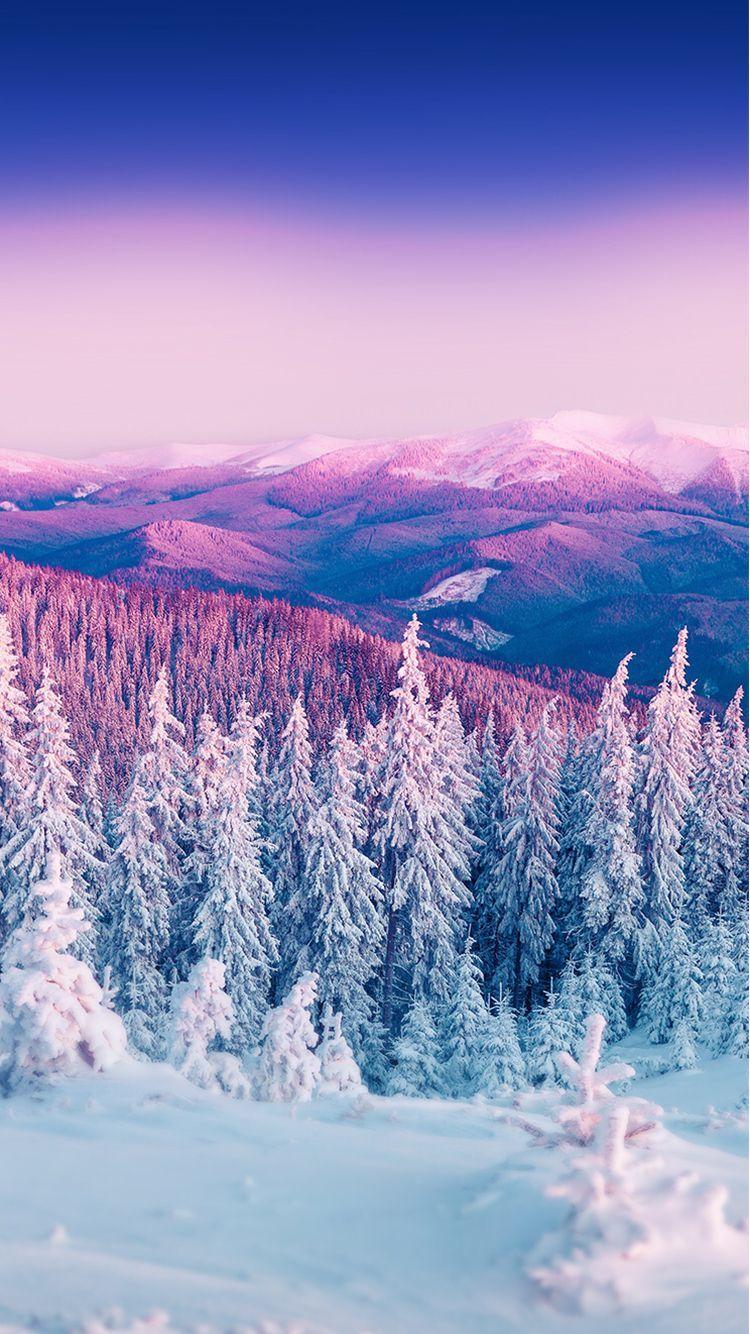 Ảnh nền điện thoại phong cảnh băng tuyết