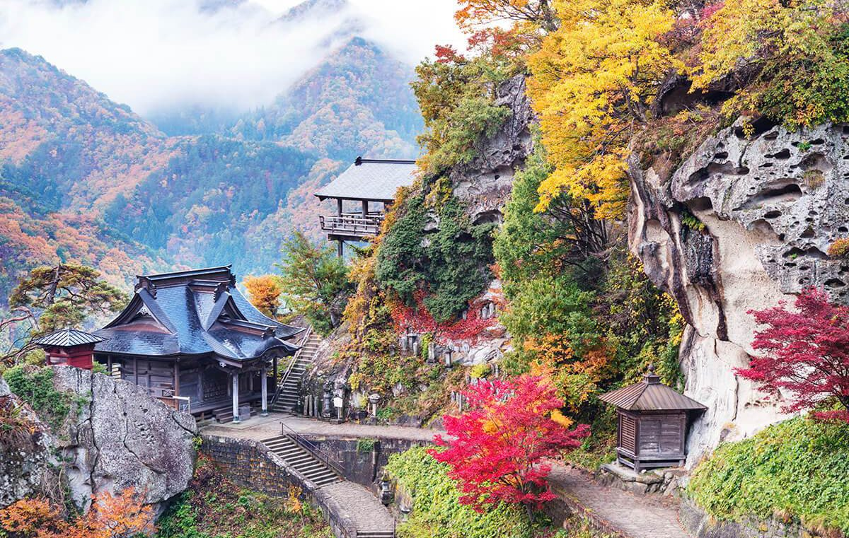 Ảnh ngôi chùa có khung cảnh tuyệt đẹp ở Nhật Bản