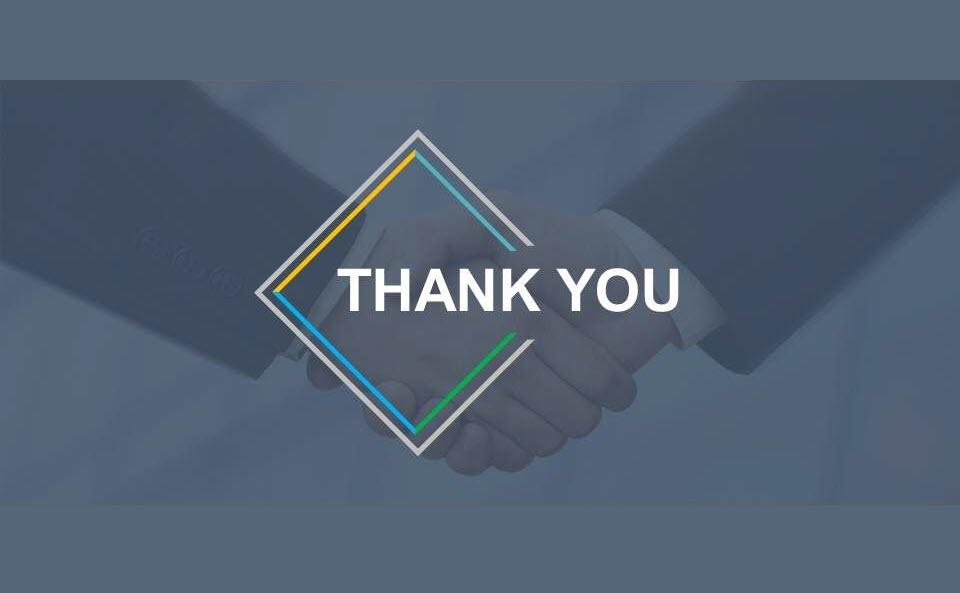 Ảnh slide thank you chuyên nghiệp cho doanh nghiệp