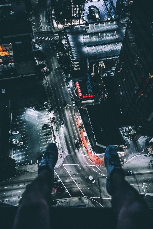 Hình nền đường phố nhìn từ trên cao cho điện thoại