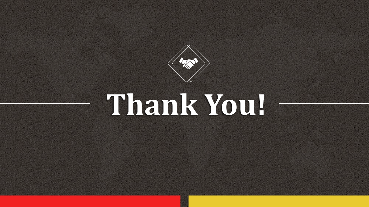Simple thank you slide for powerpoint