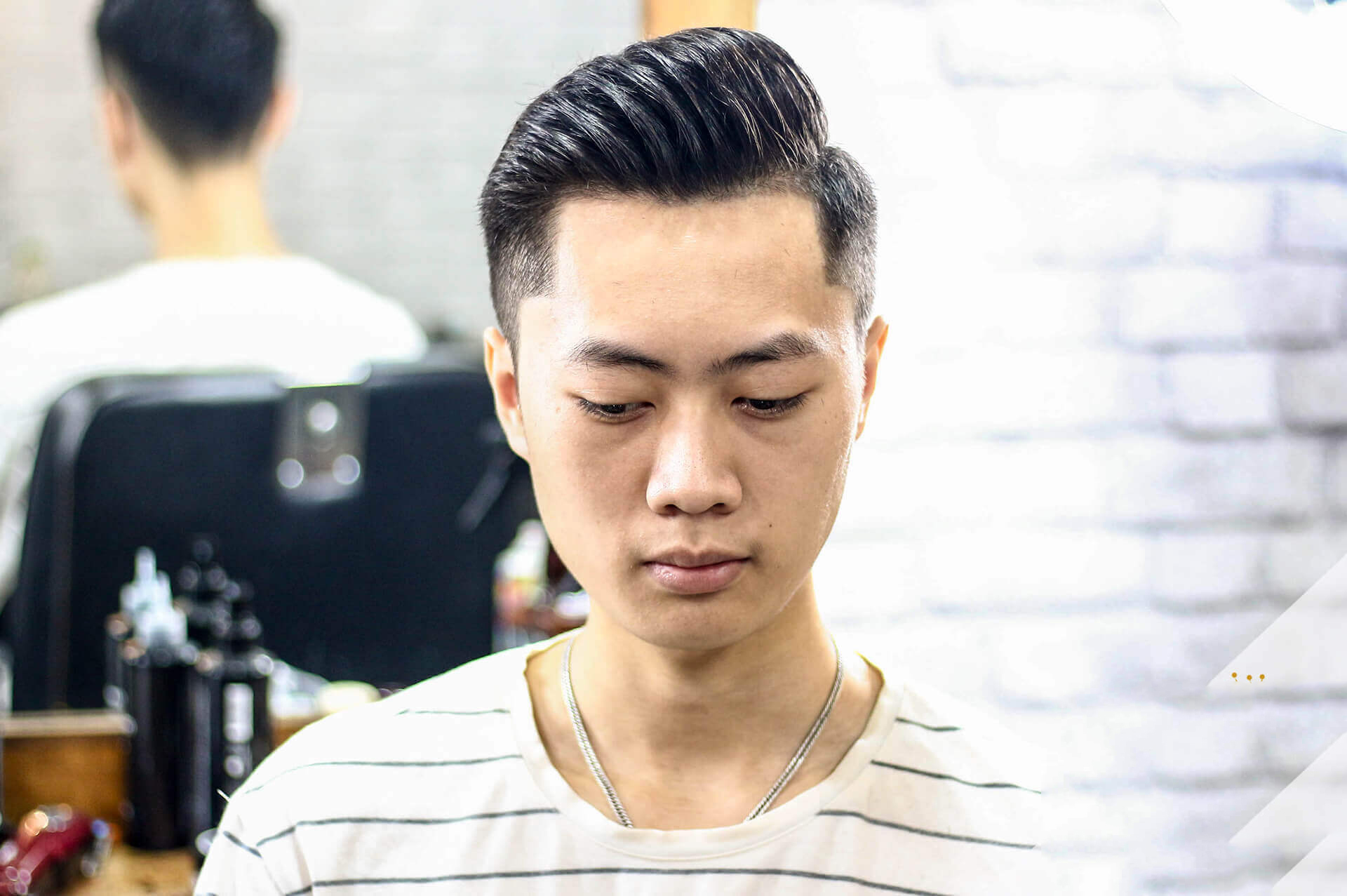 Kiểu tóc nam 2 mái đẹp