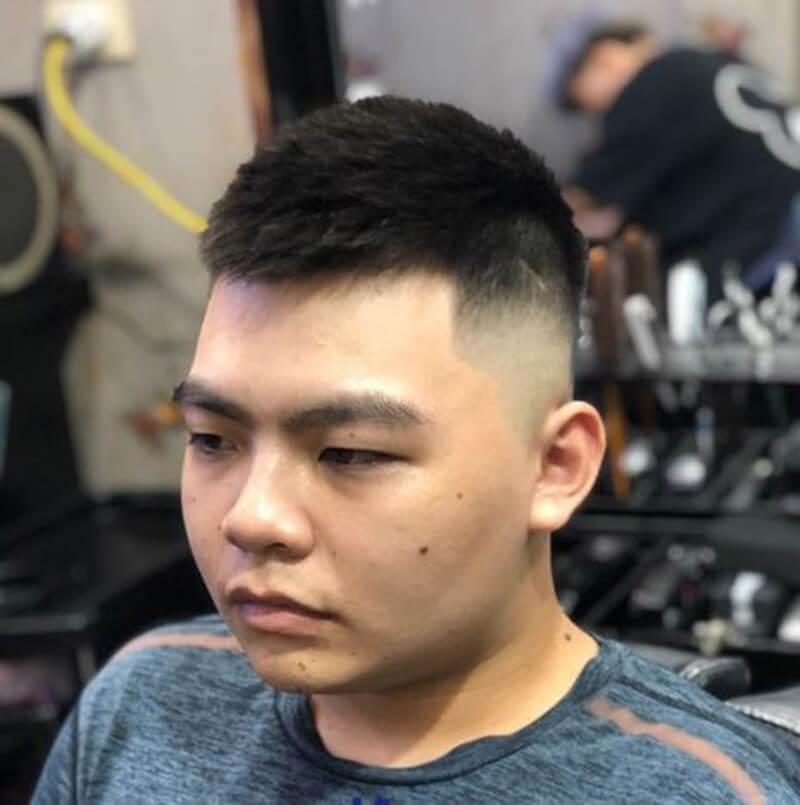 Kiểu tóc nam mặt tròn đẹp