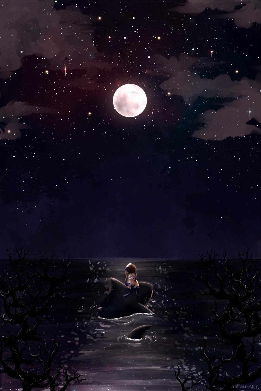 Ảnh một mình trong đêm khuya