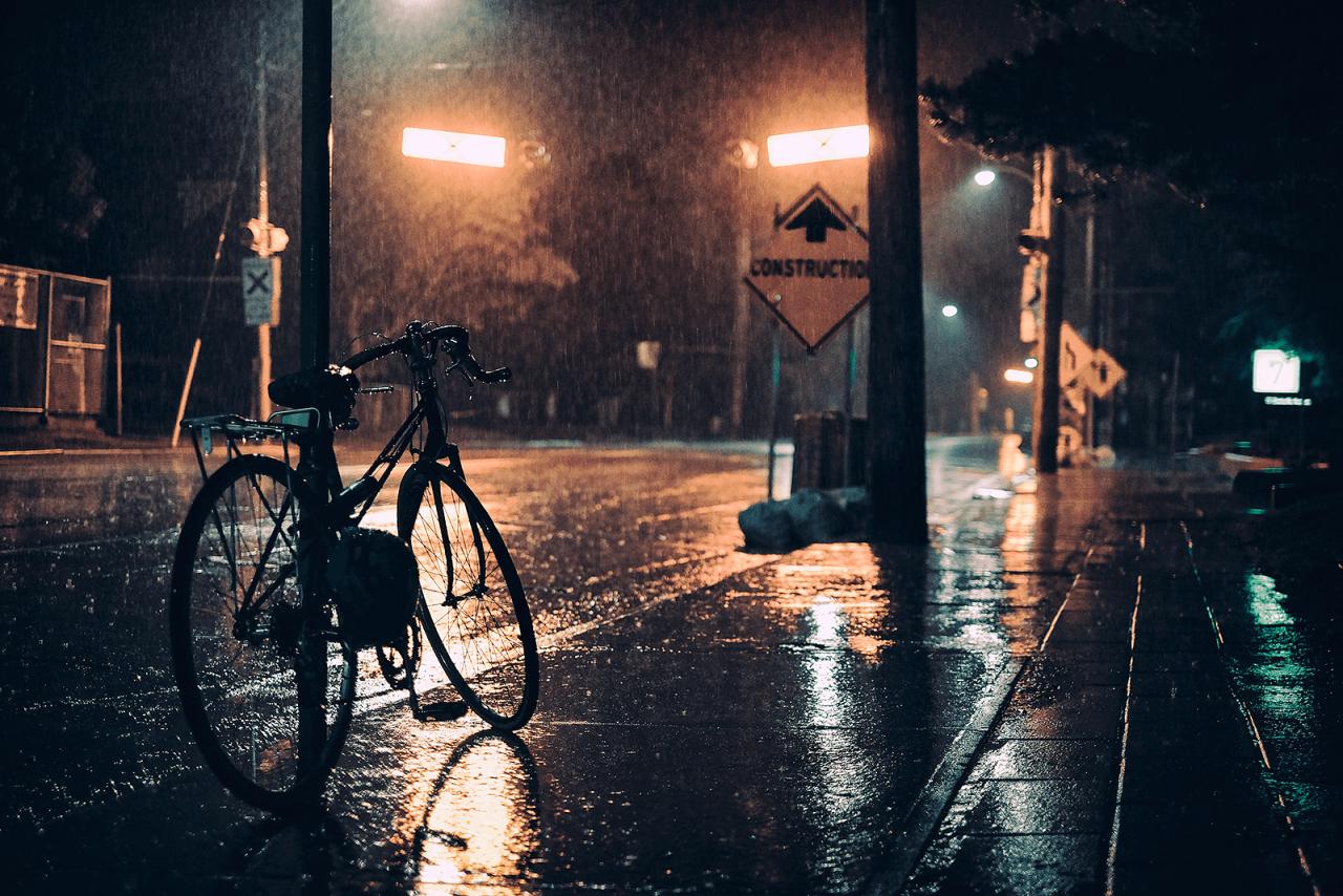 Ảnh phong cảnh đêm mưa buồn