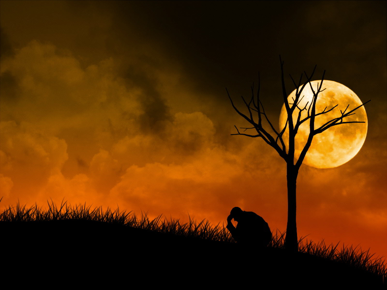 Hình ảnh buồn về đêm