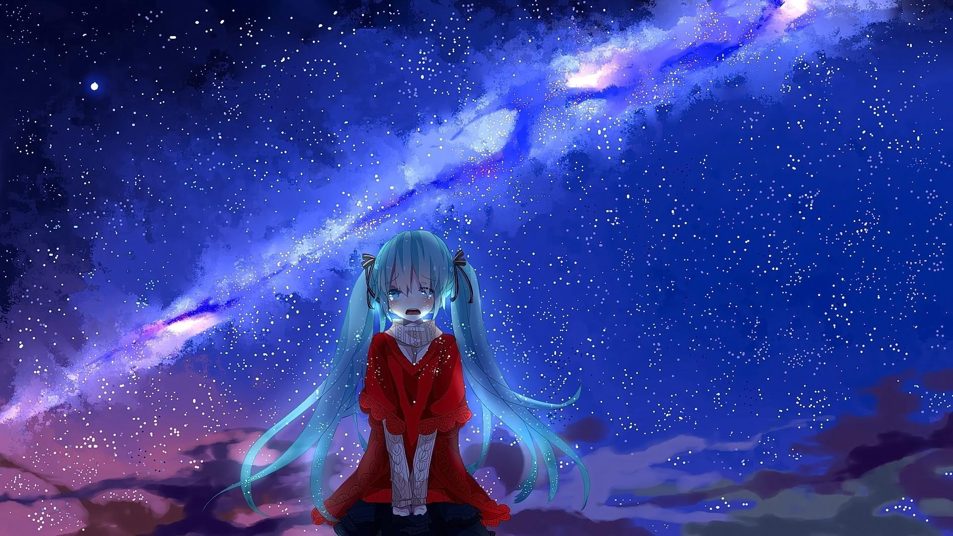 Hình ảnh đêm anime buồn cô đơn