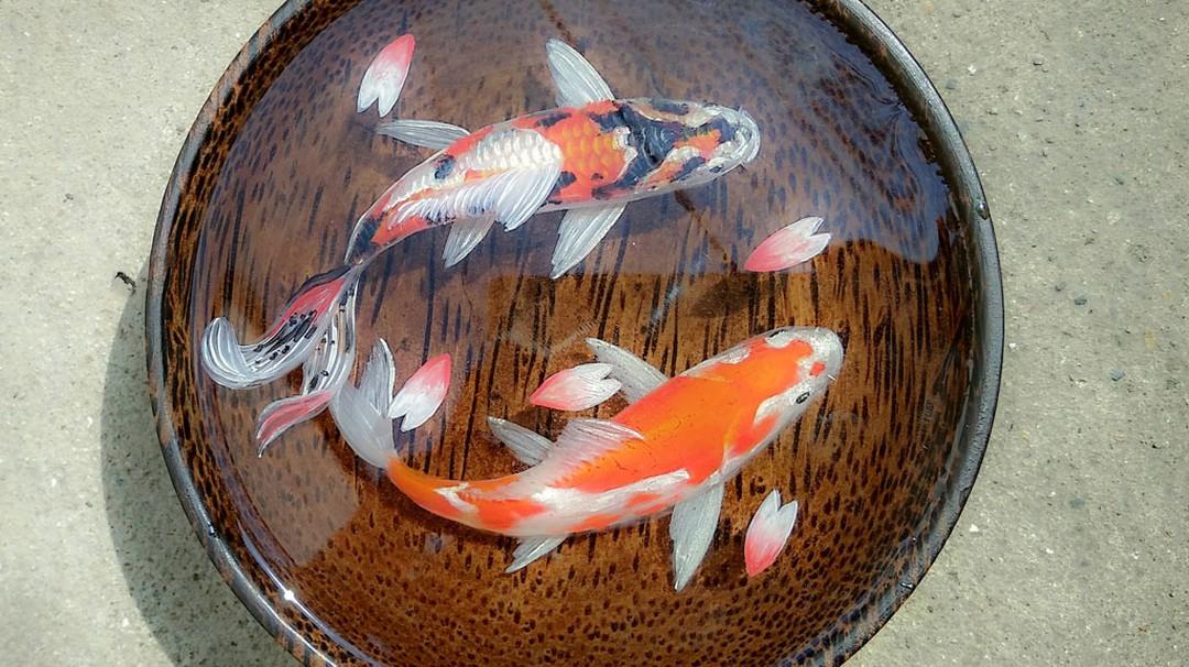 Hình nền 3D con cá chép