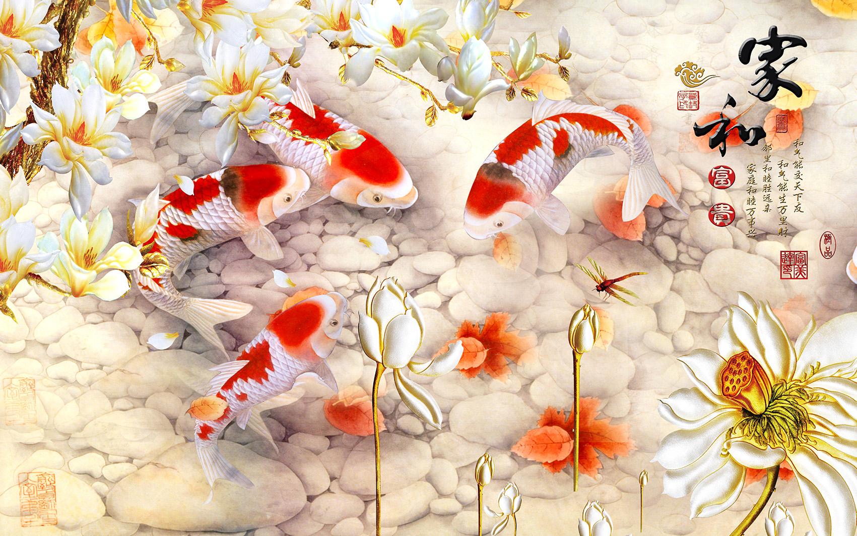 Hình nền cá chép 3D đẹp nhất