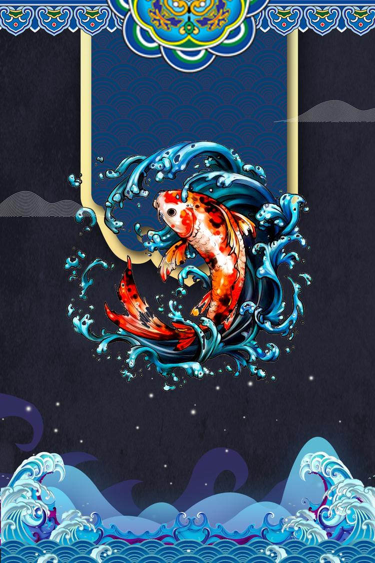 Hình nền cá chép hóa rồng đẹp nhất