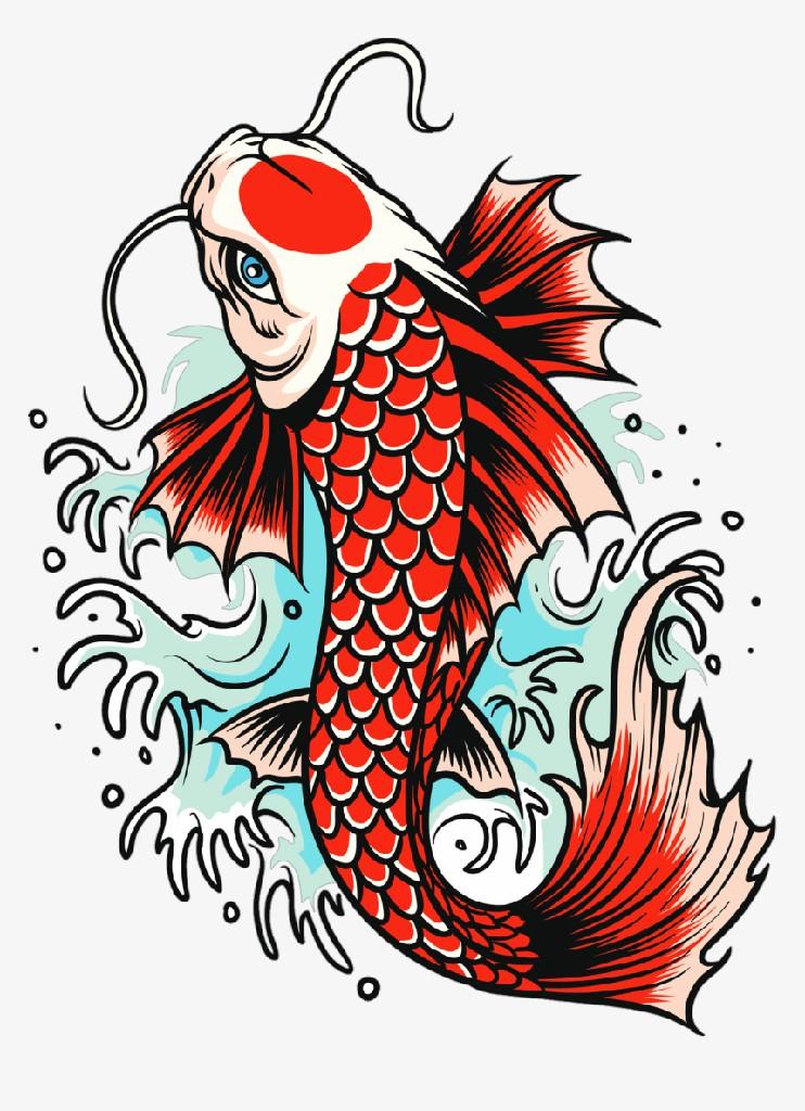 Hình nền cá chép nghệ thuật đẹp