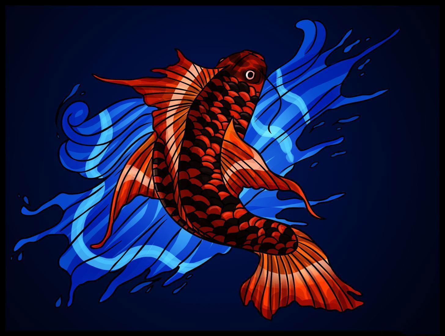 Hình nền máy tính con cá chép