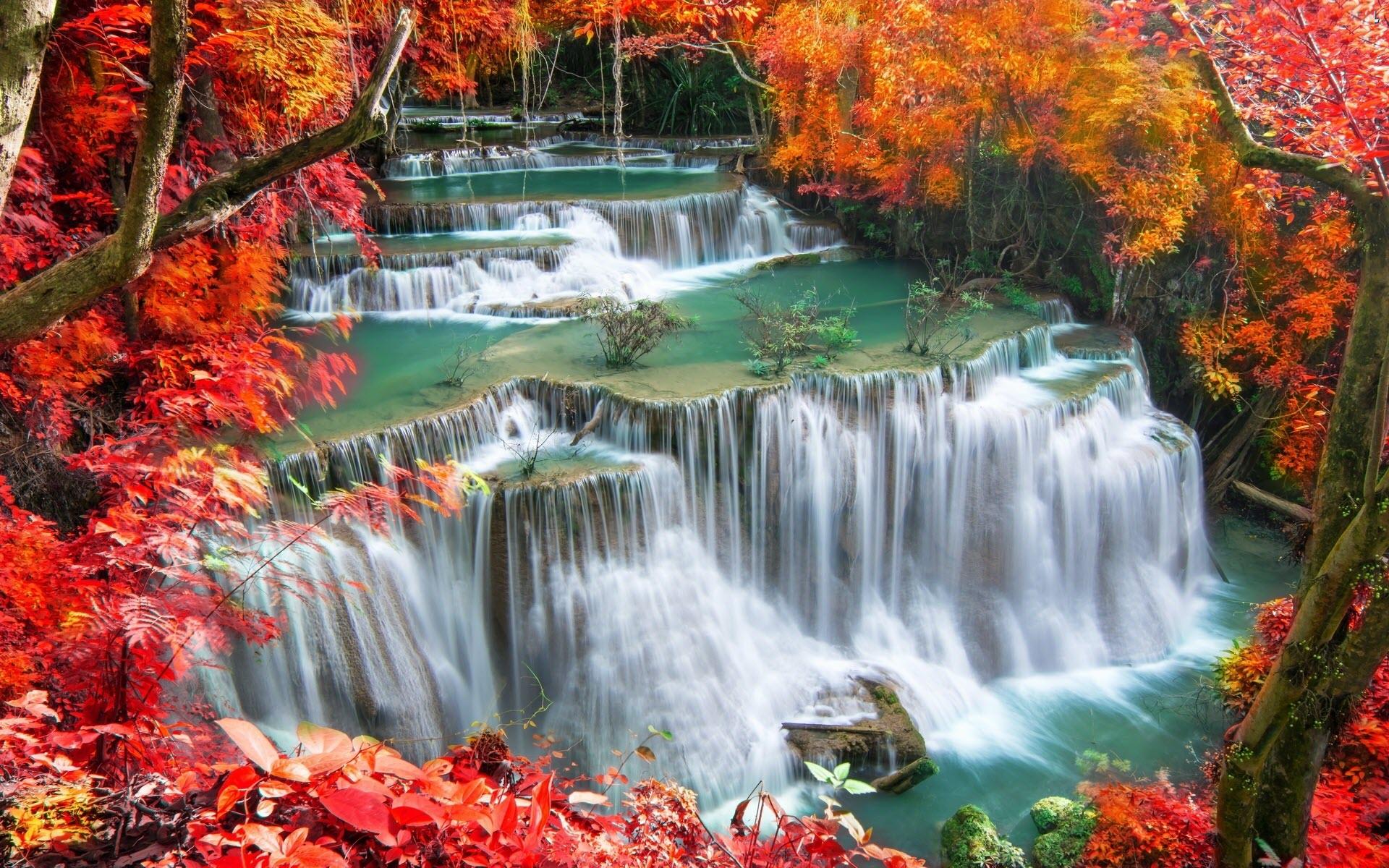 Ảnh thác nước vào mùa thu tuyệt đẹp