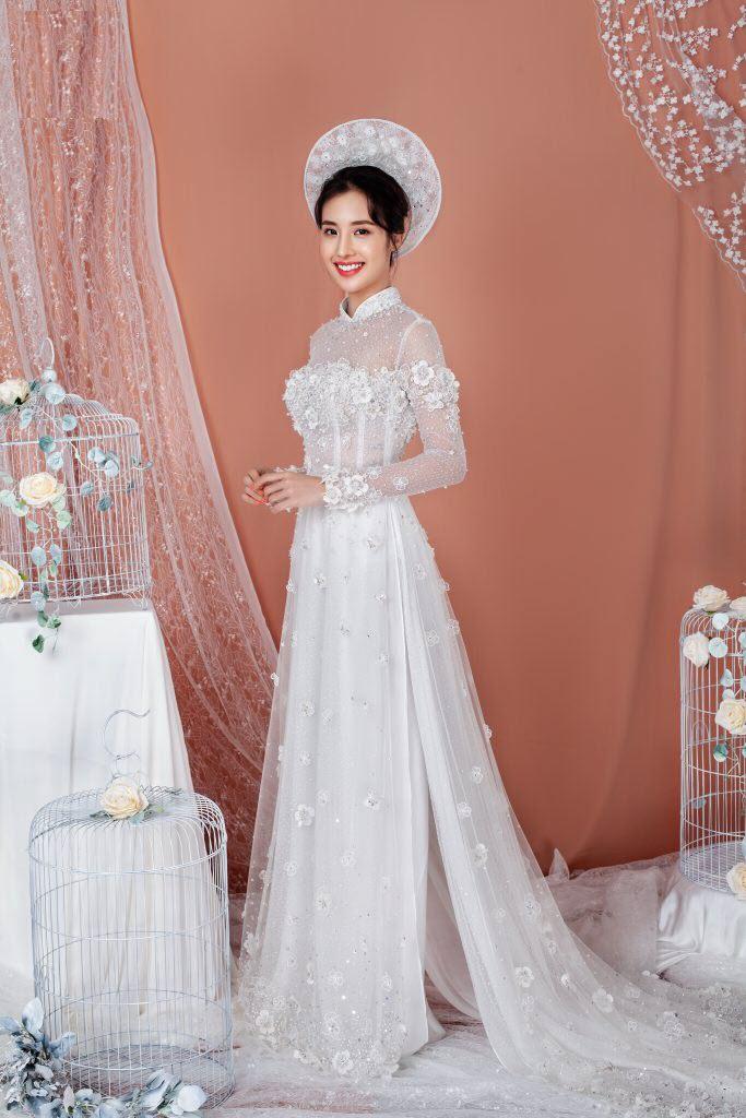 Áo dài cô dâu đuôi dài