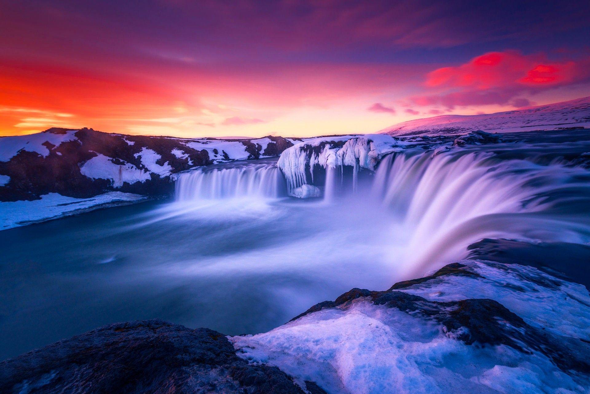 Beautiful waterfall backgrounds