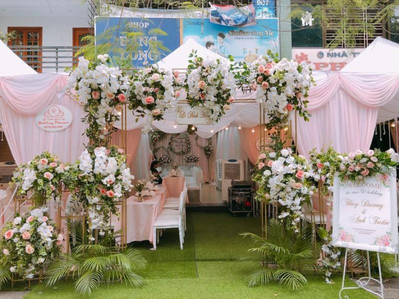 Cổng hoa đám cưới đẹp, sang trọng