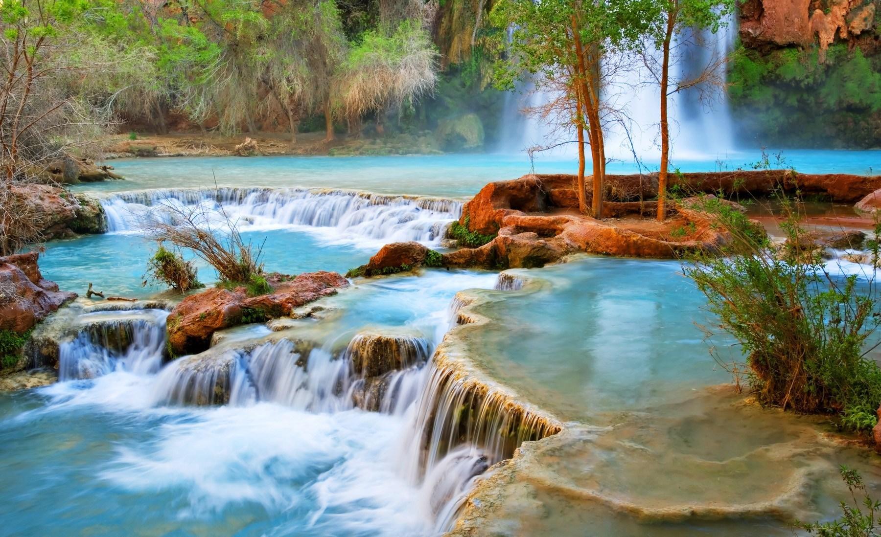 Hình ảnh phong cảnh thiên nhiên quanh thác nước