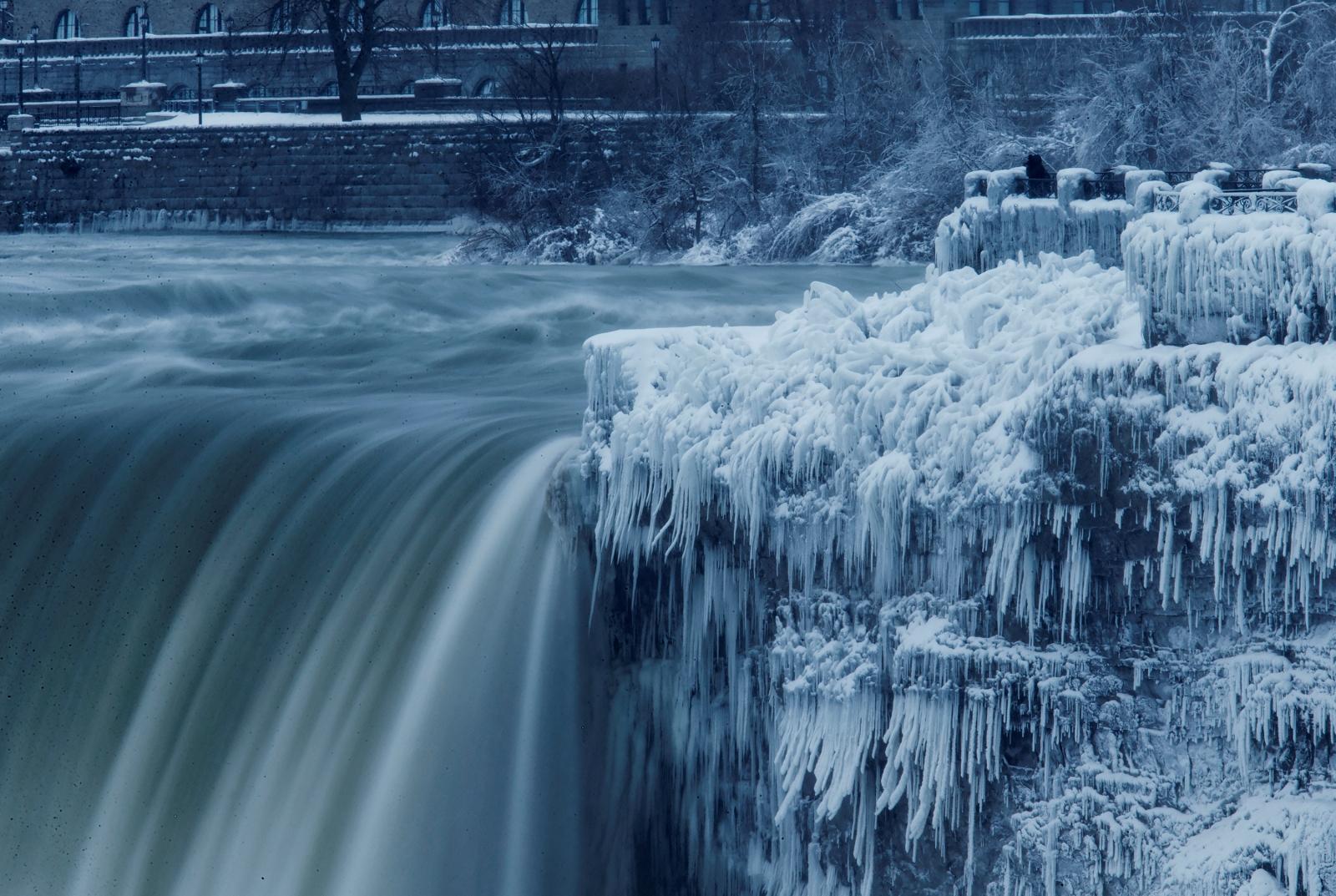 Hình ảnh thác Niagara mùa đông