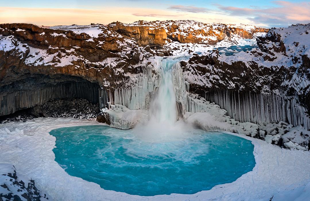 Hình ảnh thác nước Aldeyjarfoss Iceland
