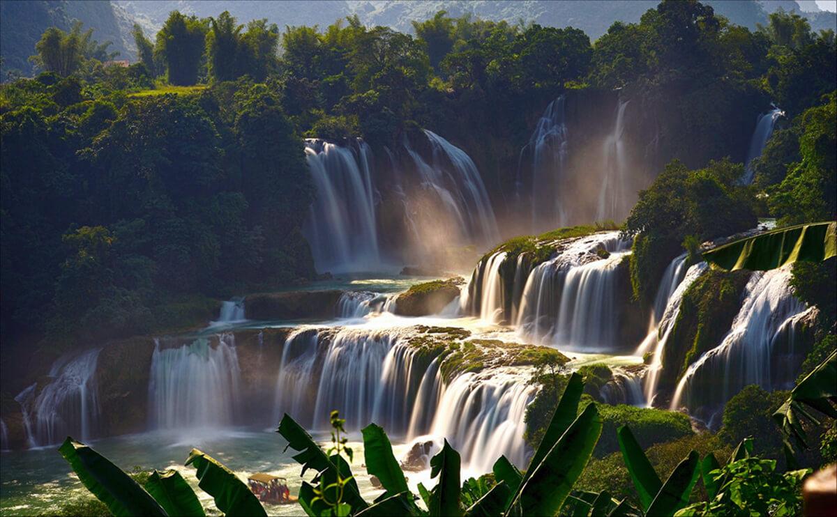 Hình ảnh thác nước Bản Giốc Việt Nam