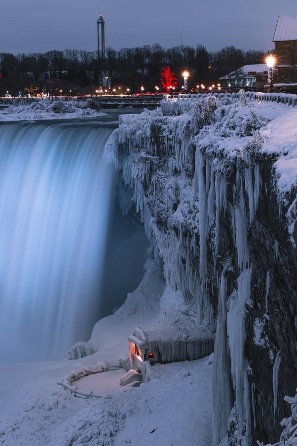 Hình ảnh thác nước mùa đông tuyệt đẹp