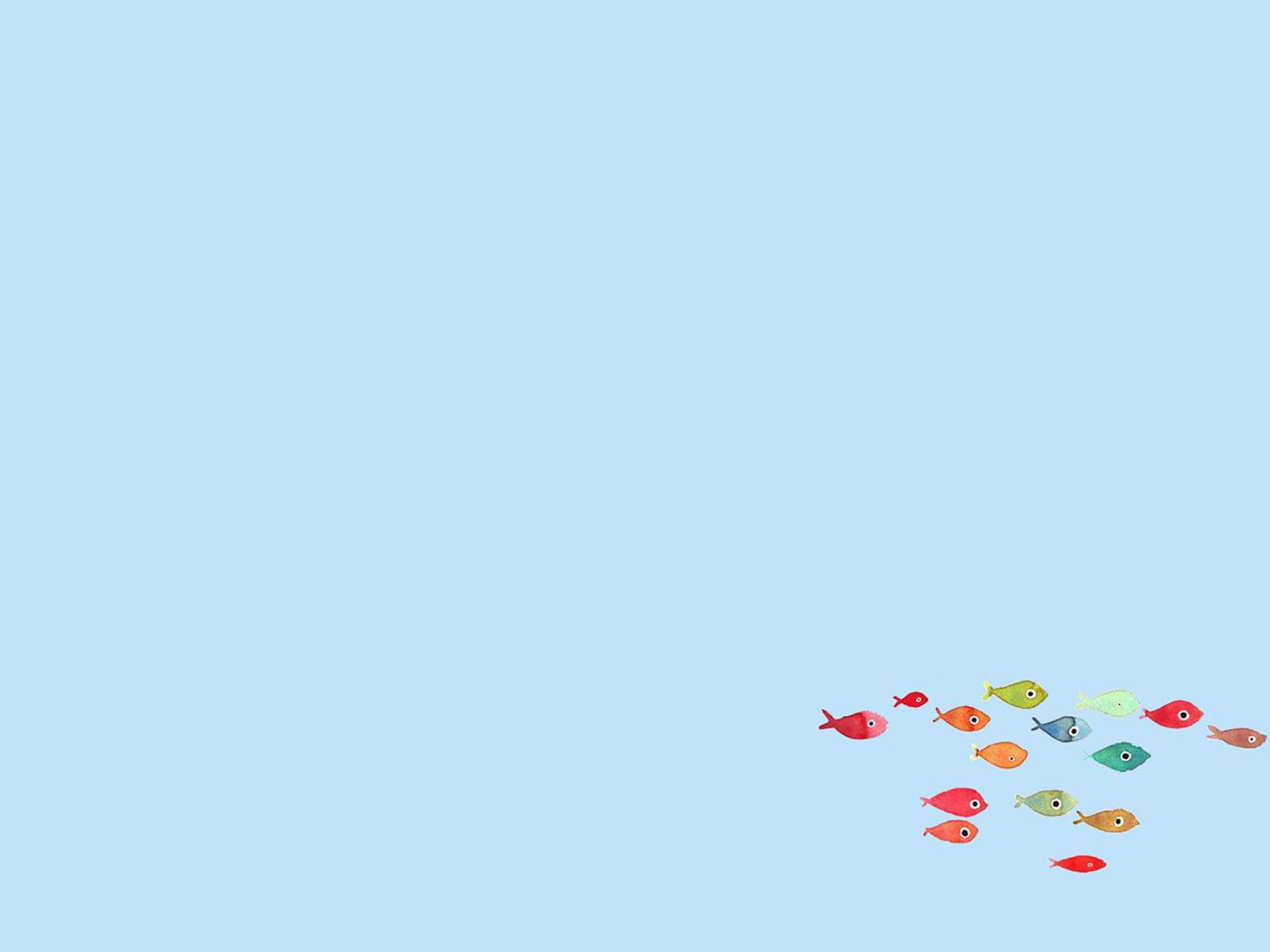 Hình nền ppt đàn cá