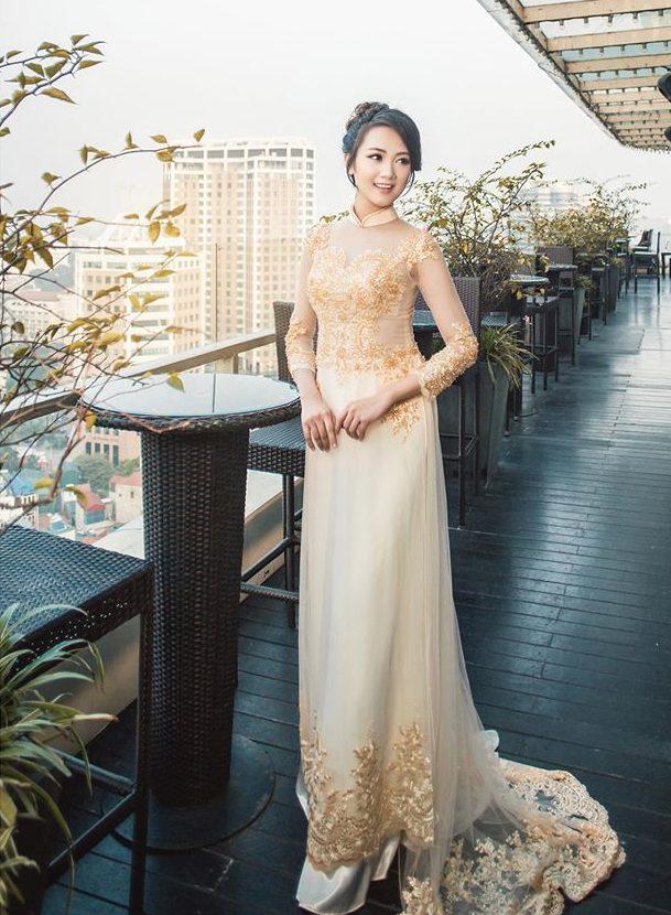 Mẫu áo dài cưới cho cô dâu đẹp