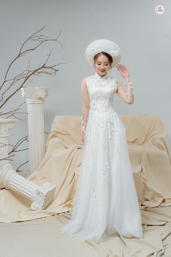 mẫu áo dài cưới đẹp không nên bỏ lỡ