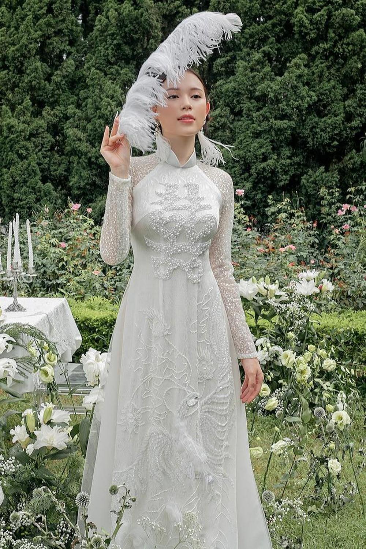 Mẫu áo dài cưới đẹp, sang trọng