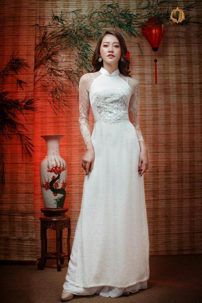 Mẫu áo dài cưới đẹp, thanh lịch cho cô dâu