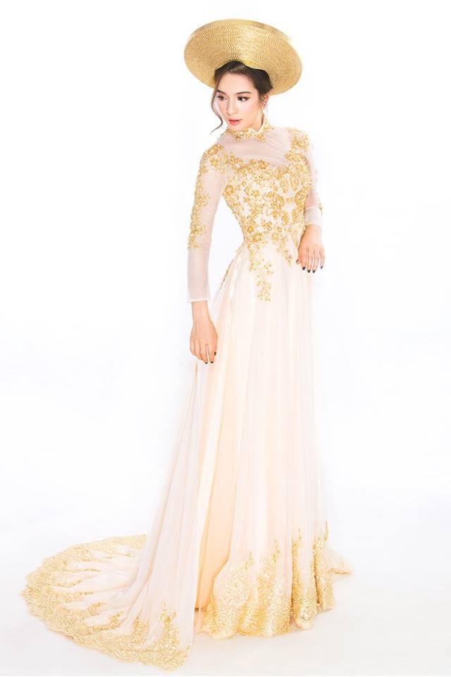 Mẫu áo dài cưới đuôi xòe cho cô dâu đẹp hút hồn