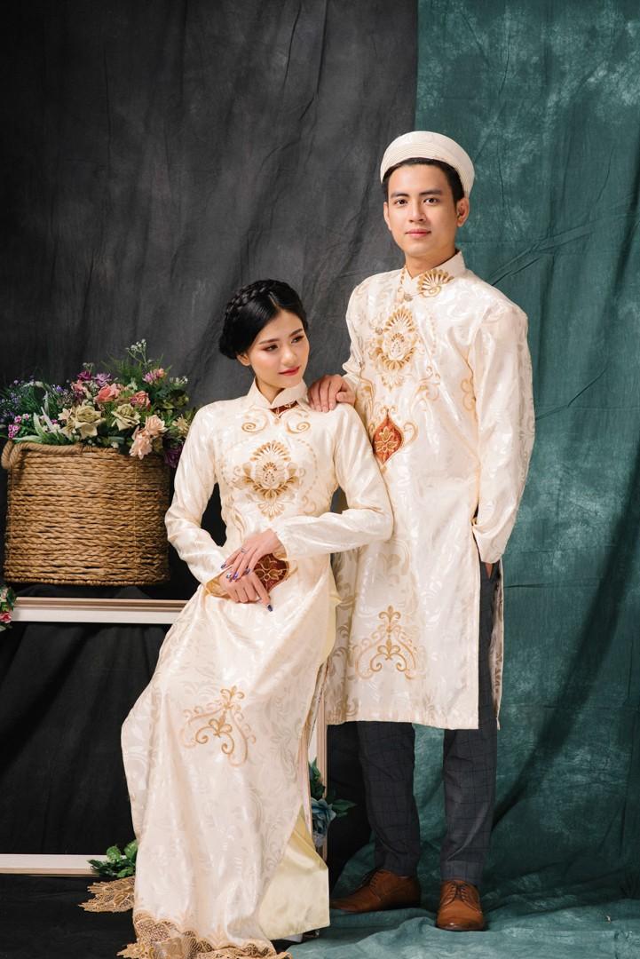 Mẫu áo dài đám cưới cách tân đẹp