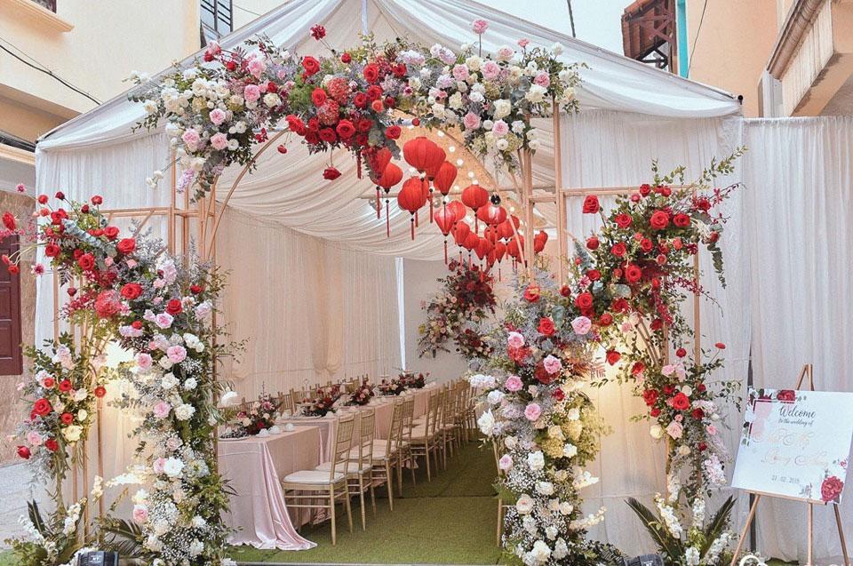 Mẫu cổng cưới đơn giản đẹp nhất