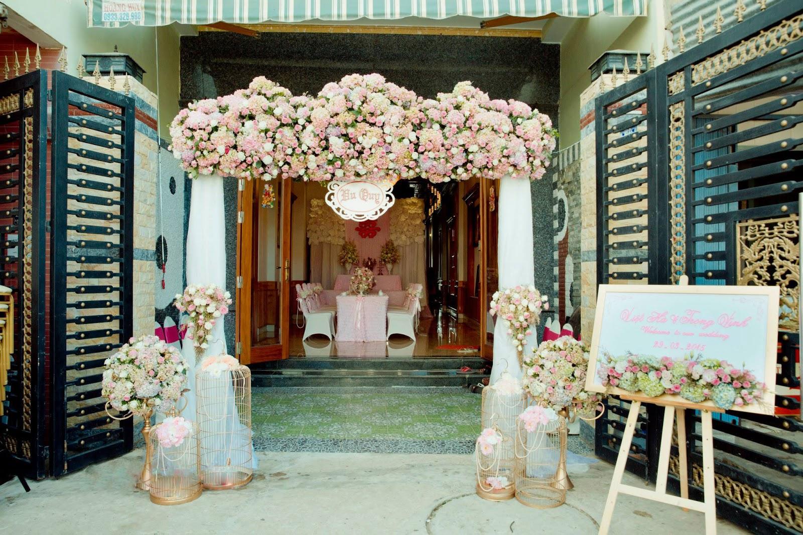 Mẫu cổng hoa tươi cưới hỏi