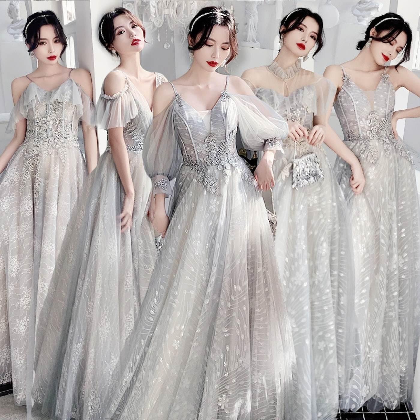 Mẫu váy phù dâu đẹp, lấp lánh
