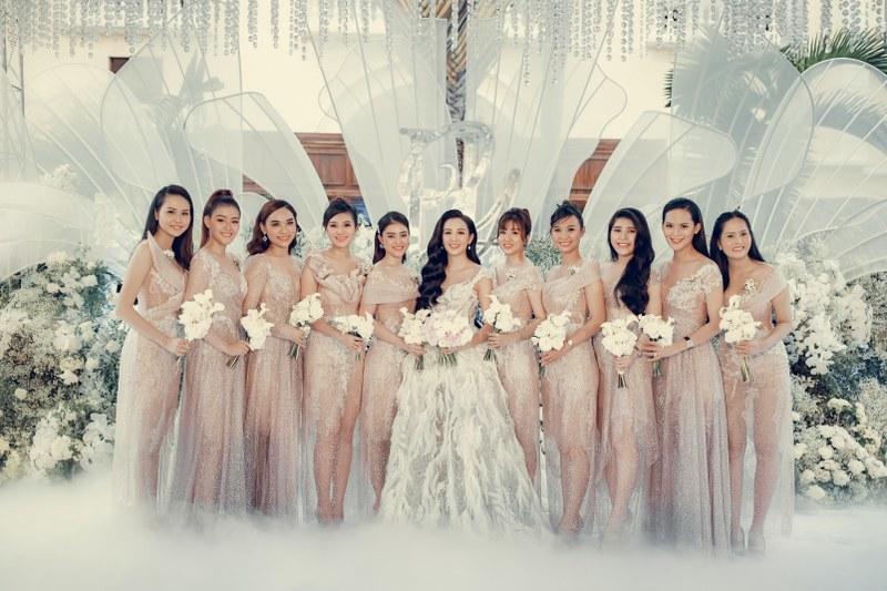 Mẫu váy phù dâu đẹp, sa hoa